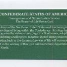 CSA GREEN CARD