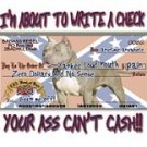 I'M ABOUT TO WRITE A CHECK T-SHIRT 4X