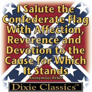 I SALUTE THE CONFEDERATE FLAG T-SHIRT LARGE