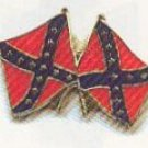 2 rebel flags hat pin