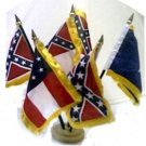 CSA 5 FLAGS DESK SET