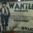 billy the kid wanted t-shirt size 4x