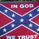 IN GOD WE TRUST REBEL FLAG 3'X5'