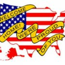 WELCOME HOME FLAG
