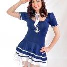 Navy Sailor Girl Fancy Dress Large