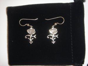 Prince Rose Symbol Earrings - 100% Sterling Silver