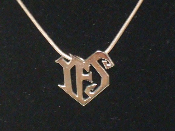 Prince Yes Symbol Necklace 100 Sterling Silver