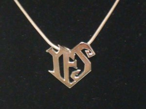 Prince YES Symbol Necklace - 100% Sterling Silver