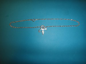 Prince Symbol Ankle Bracelet - 100% Sterling Silver