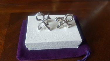 Prince Symbol Cufflinks - 100% Sterling Silver