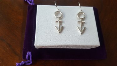 Prince Symbol Retro Style Earrings - 100% Sterling Silver