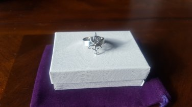Prince Rose Symbol Ring - 100% Sterling Silver
