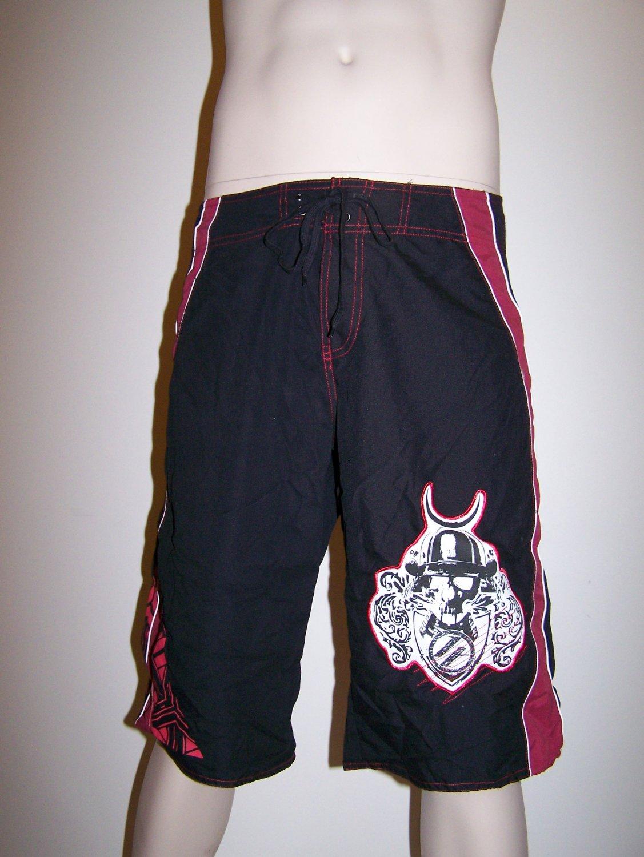 Hybrid Contract Killer - Fighting Shorts - Tophat Skull - XL