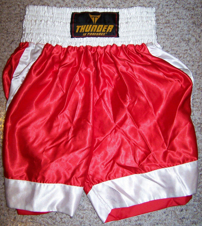 THUNDER - Boxing / MMA Shorts - RED - Med
