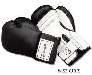 ProForce® Gladiator Boxing Gloves - Black/White - 12 OZ