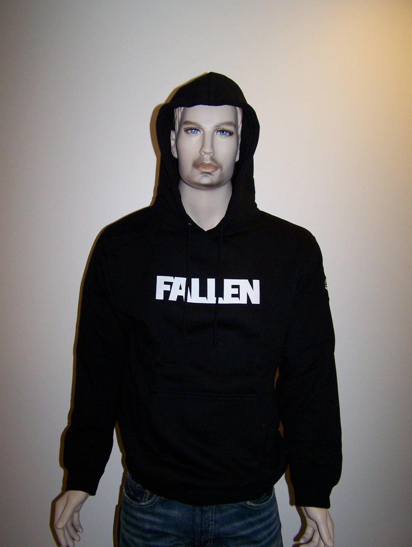 FALLEN - Black Pullover Hoodie - L