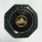 set 6 of natural gemstone glass saucer with royal palace picture