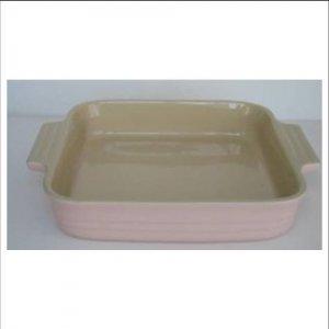 Le Creuset 23cm Stoneware Square Dish, Pink
