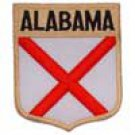 Alabama State Flag Shield Patch