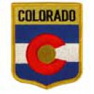 Colorado State Flag Shield Patch