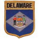 Delaware State Flag Shield Patch
