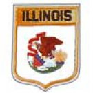 Illinois State Flag Shield Patch