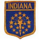 Indiana State Flag Shield Patch
