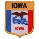 Iowa State Flag Shield Patch