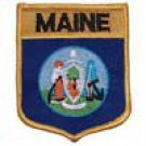 Maine State Flag Shield Patch