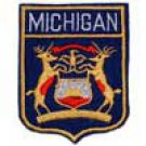 Michigan State Flag Shield Patch