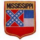 Mississippi State Flag Shield Patch