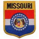 Missouri State Flag Shield Patch