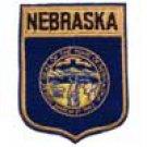 Nebraska State Flag Shield Patch