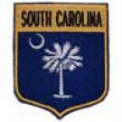 South Carolina State Flag Shield Patch