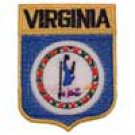 Virginia State Flag Shield Patch