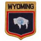 Wyoming State Flag Shield Patch