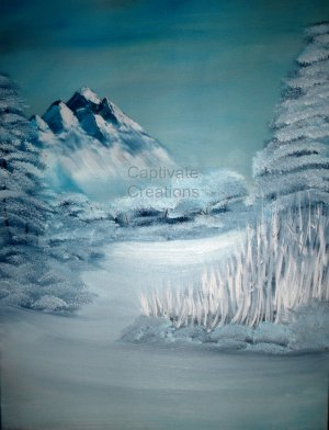 Original Snowscape Oil Painting On A Pre Stretched Canvas