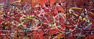 Original Abstract Acrylic Painting On Pre Stretched Canvas