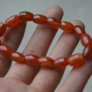 Hand-carved; oval red agate beads, 16 bracelet, natural agate beads.