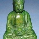 Chinese old jade, retro green jade Buddha, small ornaments, hand