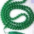 Tibetan Buddhist prayer beads, 6 mm hand-carved green jade beads 108 yoga meditation