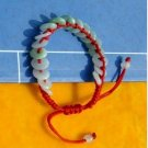 Colorful Jade bracelet. Hand-woven, colored bracelet buckle peace (18). Christmas gifts