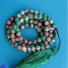 A multi-color jade beads, .8 mm beads, meditation, Yoga Mala 108 beads.