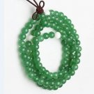 Tibetan Buddhist prayer beads, 8.5 mm green Malaysia jade, 108 Meditation Yoga Mala beads