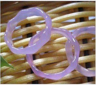 Purple crystal, hand-carved, ring / charm / ring. Diameter optional (price per pair)