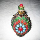Retro inlaid copper-nickel alloy. Colorful beads, snuff bottles. Ornamental. Collection