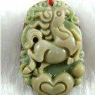 Purple, hand-carved zodiac - horse pendant. Amulet