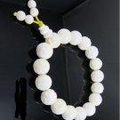 Tridacna pearl white, hand-carved, 17 Tridacna Lotus Bracelet