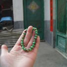 Natural alexandrite. The red. Green.The white color beads.. Bracelet. 8 mm beads, 24.