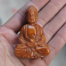 The old Chinese jade, yellow jade Buddha in retro, small accessories, hand pieces.